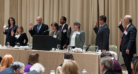 Oath of office to Chicago Federal Bar Association Board Members