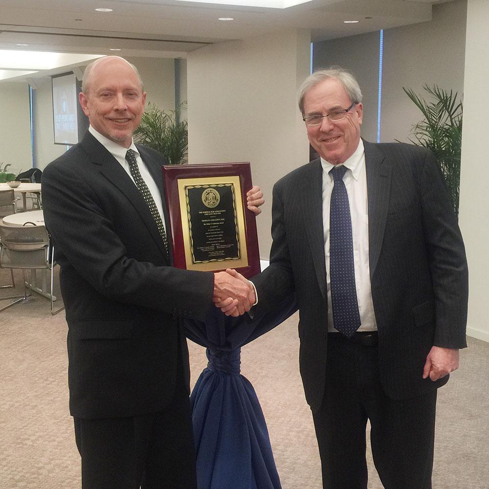 Thomas Geraghty Presented Pro Bono Award