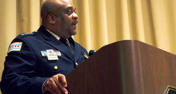 Chicago Police Superintendent Eddie Johnson Speaks At Installation Luncheon