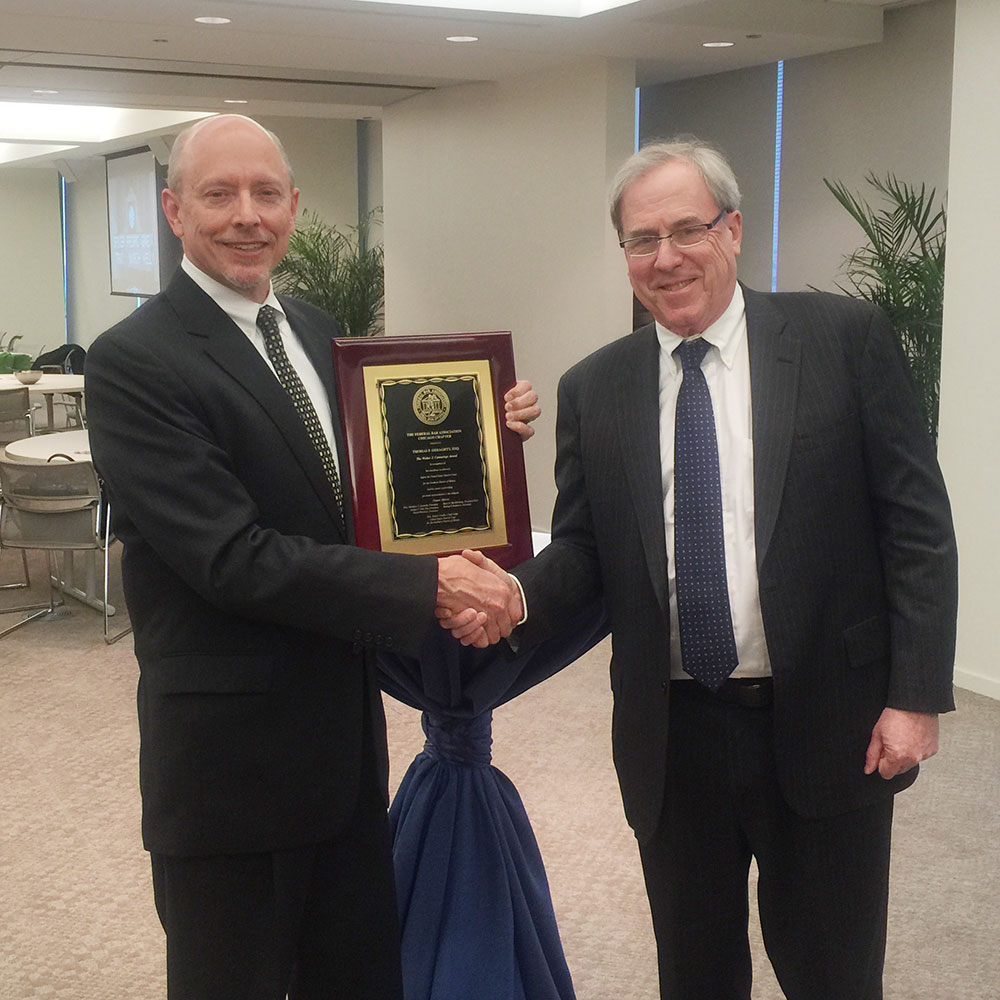 Thomas Geraghty Presented Pro Bono Award