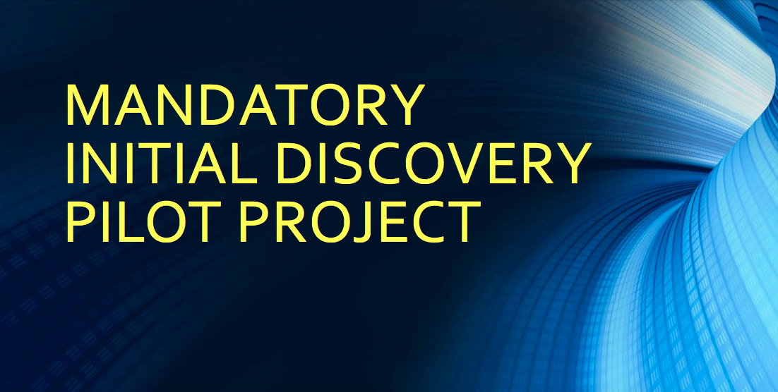 Mandatory Initial Discovery Pilot Project At Northern District Of Illinois